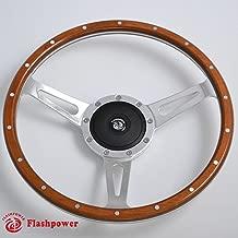 16'' Classic Riveted wood grain steering wheel Restoration Custom Hot rod street rod