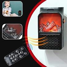 OOFAT Calentador De Aire 900W Mini Eléctrico De Pared De Salida del Calentador De Llama con Control Remoto PTC Calefacción De Cerámica Estufa Pared del Hogar del Ventilador del Radiador