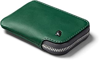 Bellroy Leather Card Pocket Wallet, Cartera Slim con Cremallera (Máx. 15 tarjeto, Efectivo, Monedero) - Racing Green