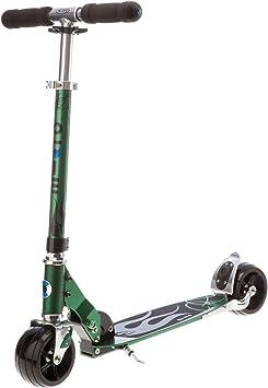 Micro® Rocket, Diseño Original, Patinete Adulto Aluminio 2 Ruedas Anchas, Plegable, Peso 3,85kg, Carga Máx 100Kg, Altura 66-96cm, Rodamientos ABEC9, ...