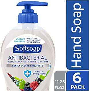 Softsoap Antibacterial Liquid Hand Soap, White Tea and Berry Fusion - 11.25 fluid ounce (6 Pack)
