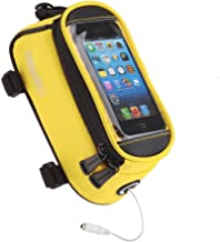LoHai [SHIP FROM USA!!] Bicycle Top Tube Frame Cycling Pannier Water Resistant Bike Bag & Mobile Phone Screen touch Holder Mount Fits Phones iPhone Samsung LG Sony Nexus HTC