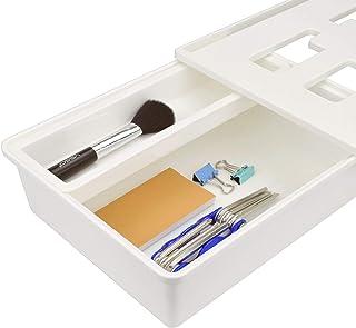 Under Desk Drawer,Desk Organizer,Hidden Self-Adhesive Pencil Tray Drawer,Medium