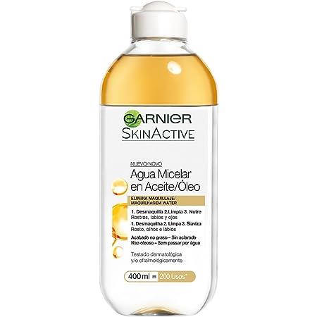 Garnier Skin Active, Agua micelar (piel grasa, en aceite waterproof) - 400 ml.