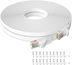 Cat 6 Ethernet Cable 50 ft, Flat Rj45 High Speed Internet...