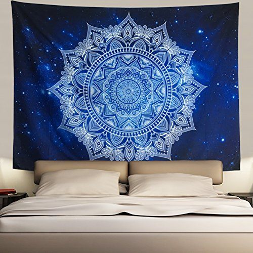 Mandala Tapestry Bohemian Tapestry Psychedelic Tapestry Galaxy Tapestry Hippie Milky Way Tapestry Sky Tapestry for Bedroom Dorm Home Decor