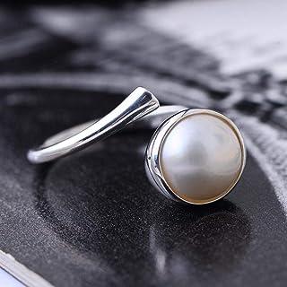 Lozse Anelli regolabili S925 argento intarsiato con luce lusso di Bechu l'anello