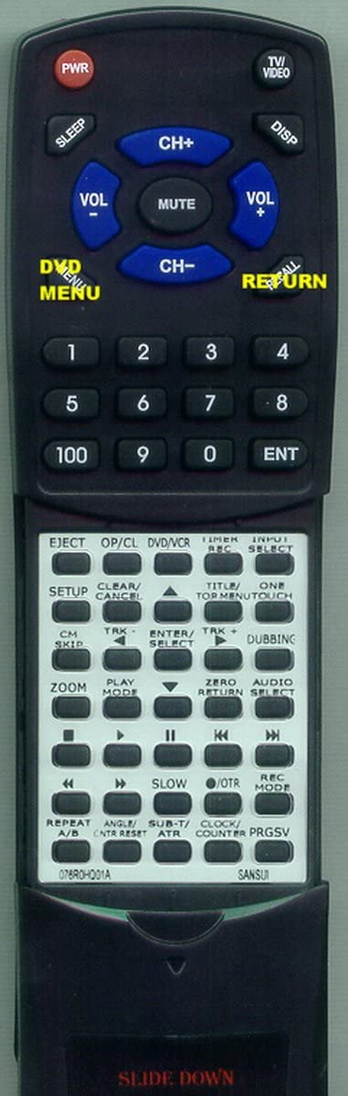 Replacement Remote Control for SANSUI 076R0HQ010, 076R0HQ01A, 076N0HQ010