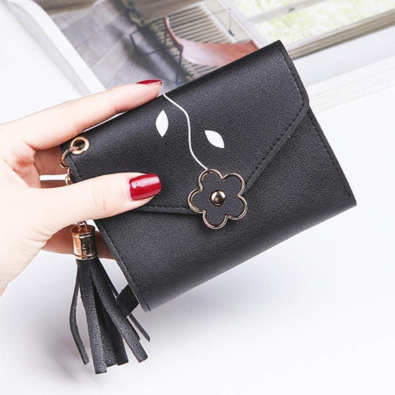 Girls Purse Women's Wallet,Women's Wallet Short BiLock Buckle 30 Percent Wallet PU Leather (color   E)