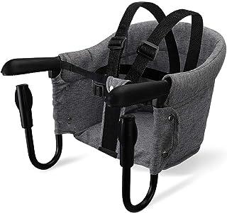 Orzbow ベビーテーブルチェア 折り畳みチェア 6~36カ月 食事 幼児用 携帯ベビーシート 日本語説明書付き 収納袋付き 人気 (グレー)