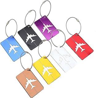 ROSEBEAR 7 Pièces/ Ensemble en Alliage D' Aluminium Voyage Bagages Sac Étiquettes Étiquettes D' Identification Étiquettes ...