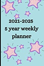 2021-2025 5 year weekly planner: Monthly Planner and Calendar | 5 Year Planner and Monthly Calendar with Holidays | Agenda...