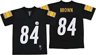 OuterStuff NFL Youth Pittsburgh Steelers Antonio Brown #84 Jersey, Black Small (8)