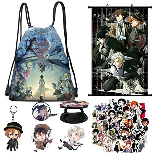 Gift Set,Drawstring Bag+Poster+Keychain+Stickers+Brooch+Card Stickers+Phone Holder (Poster)