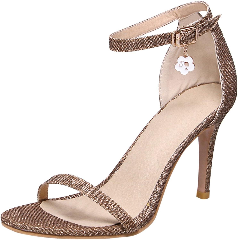 Artfaerie Women's Stiletto High Heels Sandals with Buckle Ankle Strap Open Toe Elegant Pumps