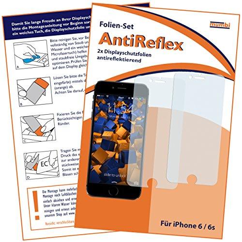 mumbi Schutzfolie kompatibel mit iPhone 6 Folie, iPhone 6s Folie matt, Bildschirmschutzfolie (2x)
