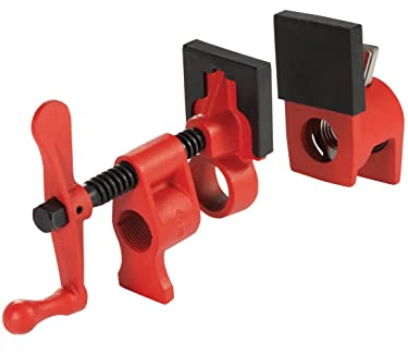 "Bessey PC34-2 3/4"" Pipe Clamp with 2 3/8"" Throat Depth, Red"