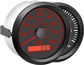 Samdo 85mm Universal GPS Speedometer 80MPH with Backlight 12V/24V for Marine Boat
