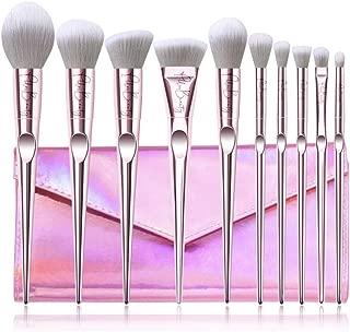 PHLOX BEAUTY 10 pcs. Makeup Brushes Professional Cruelty-Free Cosmetic Makeup Brush Set with PU Makeup Bag Rose Gold Pink