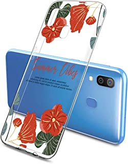 Suhctup Compatible con OPPO A91/F15/RENO 3 4G Funda Flor de TPU Transparente Diseño de Flores Patrón Cárcasa Ultra Fina Su...
