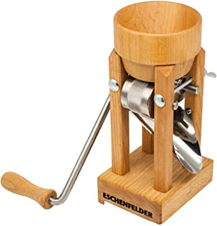 Eschenfelder Kornquetsche | Flocker | Tischmodell Holztrichter & Alutrichter | Flockenquetsche | Porridge Selbermachen | Müsli Holz-Trichter