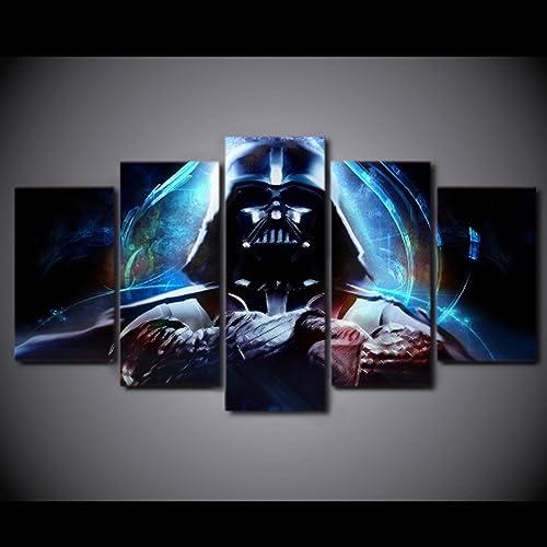 bbae98ccf 5PCS Framed Darth Vader Canvas - 5 Piece Canvas Starwars Artwork Canvas  Prints Dark Side on