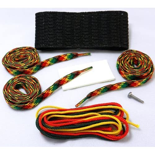 Stick Doctor Lacrosse Hard Mesh Stringing Kit - Rasta Two