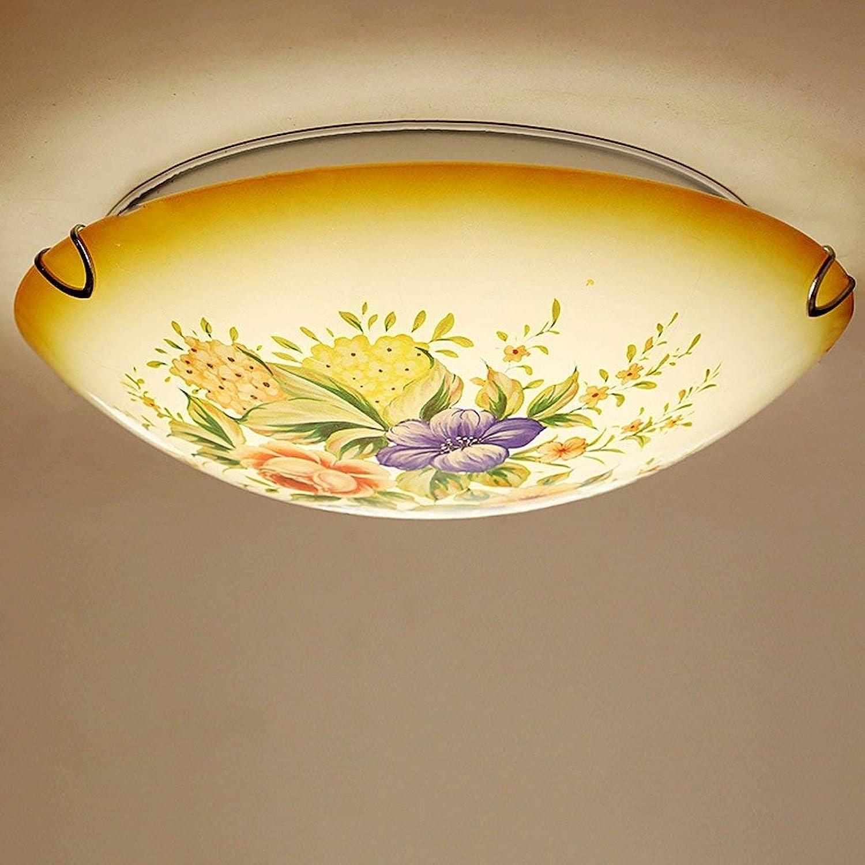 Unbekannt FEI Deckenleuchte LED Deckenleuchte Schlafzimmer Zimmer Lampe Wohnzimmer Garten Handgemachte Blaume Glas Lampe Druck Lampe Balkon Gang Licht