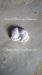 10 pz Gessetti profumati piedini con cuore