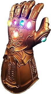 Homened Thanos Handschuhe, Thanos Infinity Gauntlet LED Handschuhe, Thanos Cosplay Latex Handschuhe Halloween Party Zubehör