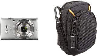 Canon IXUS 185 - Cámara compacta de 20 MP (Pantalla de 2.7 Digic 4+ 16x ZoomPlus vídeo HD Modo Smart Auto Date Button Easy Auto) Plata + AmazonBasics - Funda para cámaras compactas