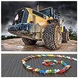 azutura Gelber Traktor Fototapete BAU Tapete Jungen Schlafzimmer Haus Dekor Erhältlich in 8 Größen Extraklein Digital