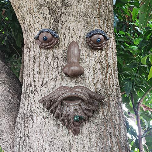MARYTUMM Old Man Tree Hugger – Garden Peeker Yard Art – Outdoor Tree Hugger Skulptur skurriles Baumgesicht Gartendekoration
