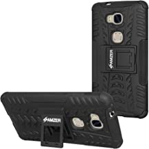 AMZER Hybrid Warrior Impact Resistant Case Cover Skin for Huawei Honor 5X - Retail Packaging - Black