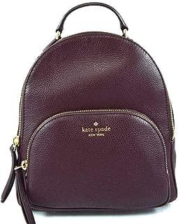 Kate Spade New York Jackson Medium Pebble Leather Backpack Bag Chocolate Cherry