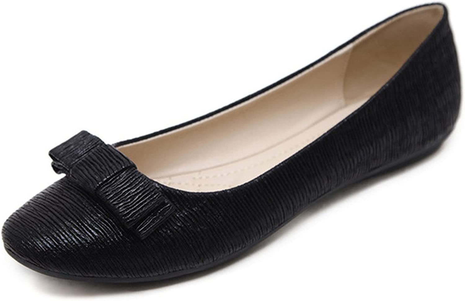 York Zhu Ballet Flats for Women, Bowknont Pointed Toe Flats, Ladies Dressy shoes