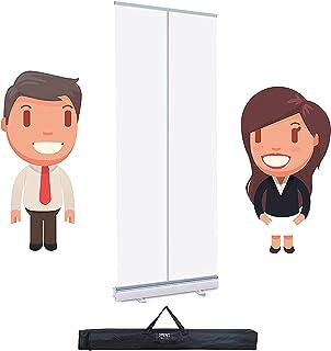 TOPNIU Bannière Clear Roller Clear Clear PVC Transparent PVC Mobile Speeeze Guard Pop Up Bannière Pull Up, écran de protec...