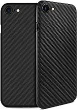 doupi UltraSlim Case iPhone 8/7 Carbon Fiber Look Feather Light Skin Protective Cover Bumper Shell Hardcase, Black