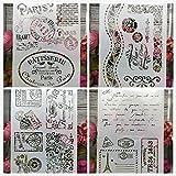 4 Unids de plantillas A4 ideales con cenefas, grecas, frases para Diarios, scrapbboking, libros recortes, tareas cole, tarjetas felicitacion regalos mil y una ideas de Chipyhome