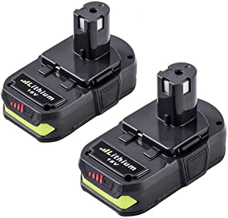 P102 Battery 18 Volt 2500mAh Replace for Ryobi 18V Battery Lithium One+ P103 P104 P105 P107 P108 P109 P190 for Ryobi 18V One+ Cordless Power Tools - 2 Pack