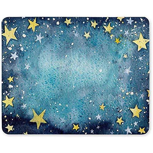 Gjid Starry Sky schattige sterren antislip rubberen mat voor laptop muismat/muismat voor thuis/dames/heren/werkkleding