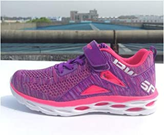 MTSL Running Shoes, Autumn and Winter Children's Shoes, Boy's Breathable Sneakers, Double Net Girls Boys Casual Girls Shoes (Color : C, Size : 40EU)