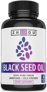 Zhou Black Seed Oil | 100% Virgin, Cold Pressed Source of Omega 3 6 9 | Super antioxidant for Immune Support, Joints, Dige...