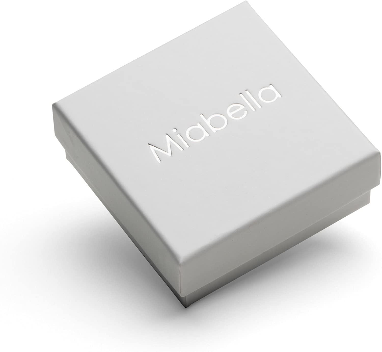 """8 7/"""" 7.5/"""" 9 Miabella Solid 925 Sterling Silver Italian 5mm Diamond-Cut Figaro Chain Bracelet for Women Men 6.5/"""""""