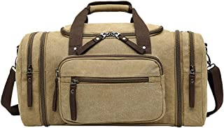 Relaxed Durable Long-distance Travel Bag Men's and Women's Portable Shoulder Slung Bag Canvas Large Capacity