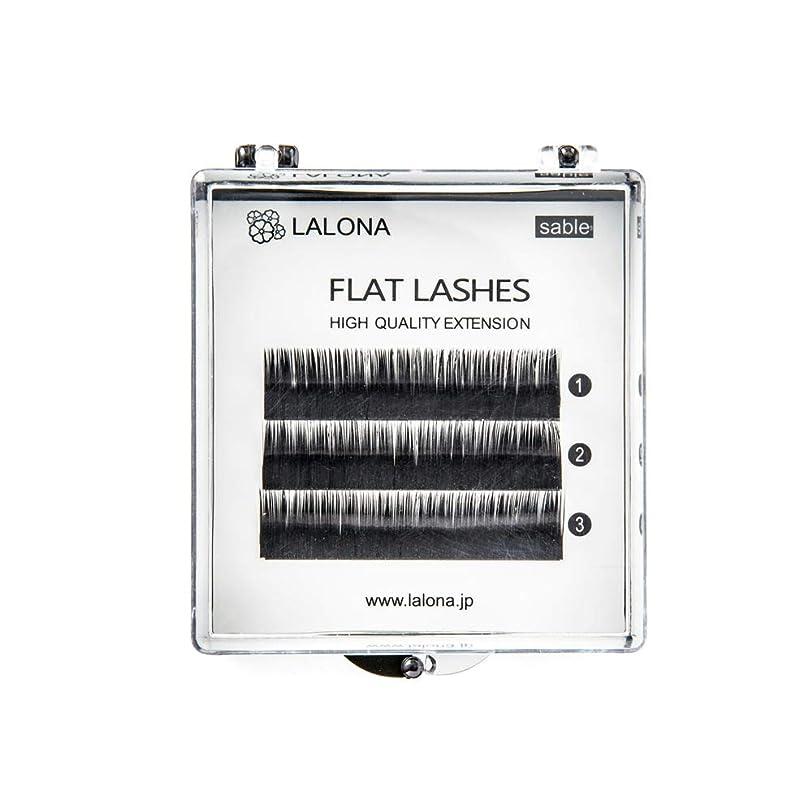 広まった天才赤LALONA [ ラローナ ] フラットラッシュ (BLK) (3列) まつげエクステ 平面加工 Lディテール ブラック (Uカール 0.15 / 15mm)