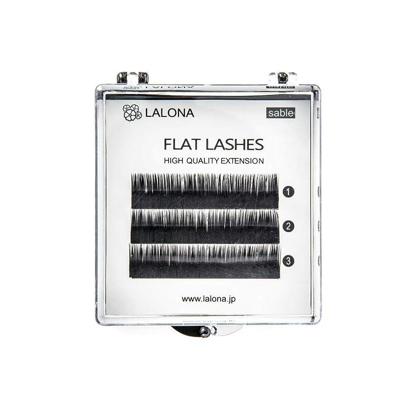 ストッキングジャーナリスト多様体LALONA [ ラローナ ] フラットラッシュ (BLK) (3列) まつげエクステ 平面加工 Lディテール ブラック (Dカール 0.1 / 10mm)
