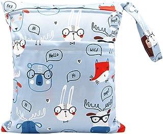 iZiv Baby Waterproof Reusable Wet Dry Bag, Nappy Bag, Reusable Wet Suit Bag, Waterproof Washable Hanging Large Diaper Bag ...