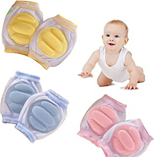Hillento Elastic Unisex Infant Toddler Baby Kneepads, 3 Pairs, Random Color