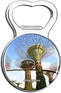 Weekino Singapore Fridge Magnet Bottle Opener Beer City Travel Souvenir Collection Strong Refrigerator Sticker
